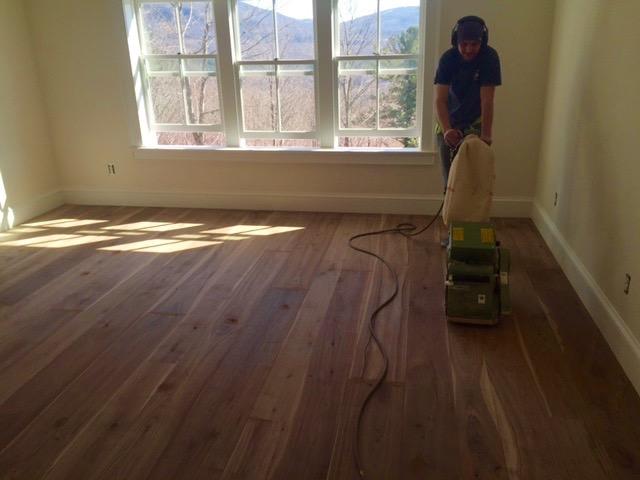 Pre-Finished Hardwood Flooring - Sanding
